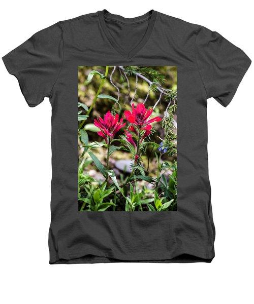 Paintbrush Men's V-Neck T-Shirt