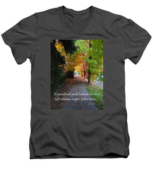 Paintbrush Path Men's V-Neck T-Shirt