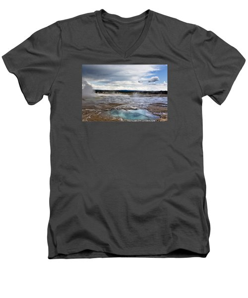 Paint Pots Men's V-Neck T-Shirt by Belinda Greb