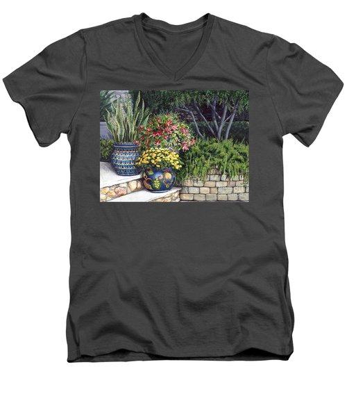 Painted Pots Men's V-Neck T-Shirt