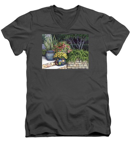 Painted Pots Men's V-Neck T-Shirt