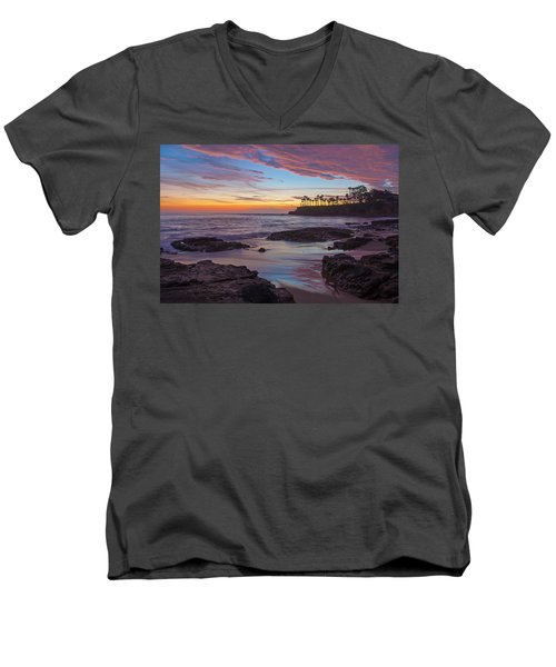Painted Sky Laguna Beach Men's V-Neck T-Shirt