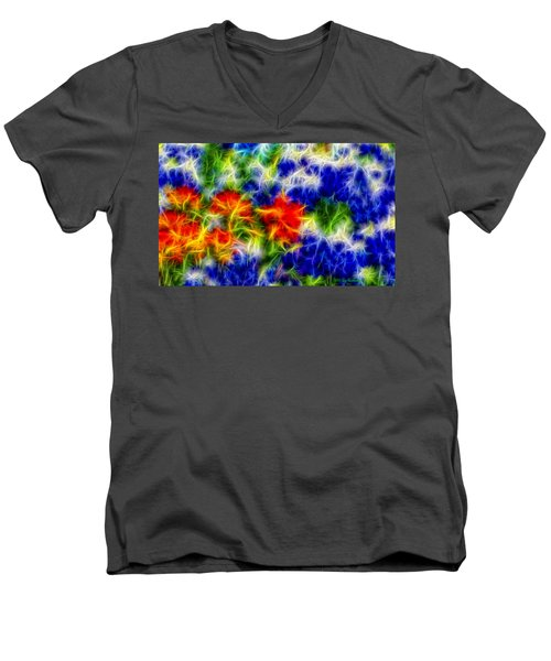 Painted Wildflowers Men's V-Neck T-Shirt