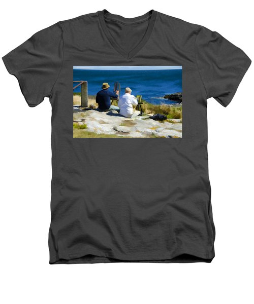 Painting The View Men's V-Neck T-Shirt