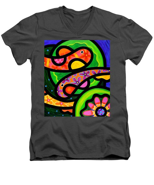 Paisley Pond - Horizontal Men's V-Neck T-Shirt