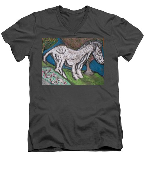 Out There Alone. Men's V-Neck T-Shirt by Jonathon Hansen