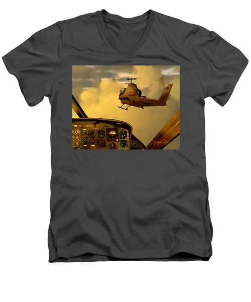Palette Of The Aviator Men's V-Neck T-Shirt