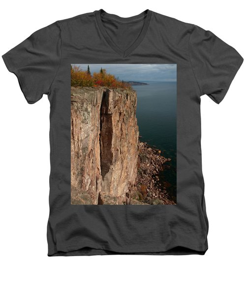 Men's V-Neck T-Shirt featuring the photograph Palisade Depths by James Peterson