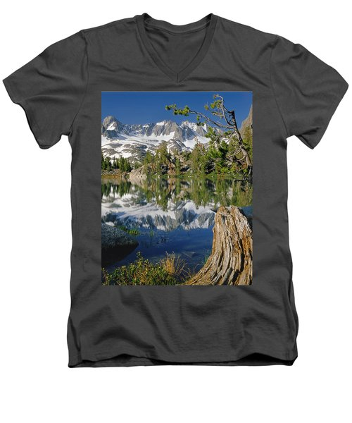 2m6443-v-palisade Peaks And Summit Lake V Men's V-Neck T-Shirt