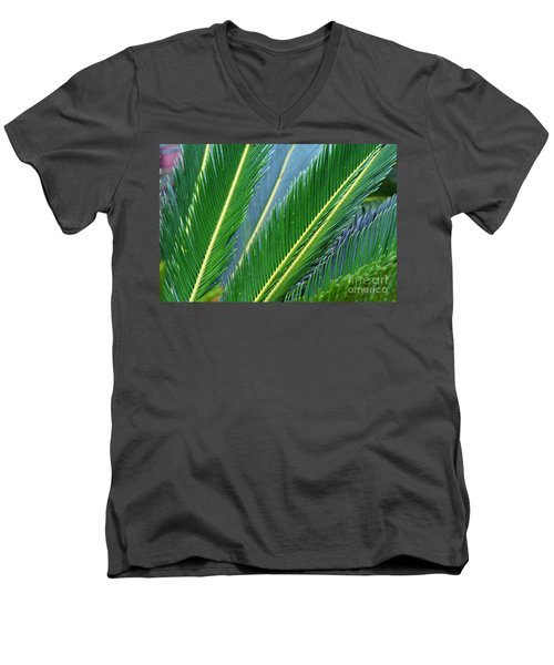 Palm Cycas Fronds Men's V-Neck T-Shirt
