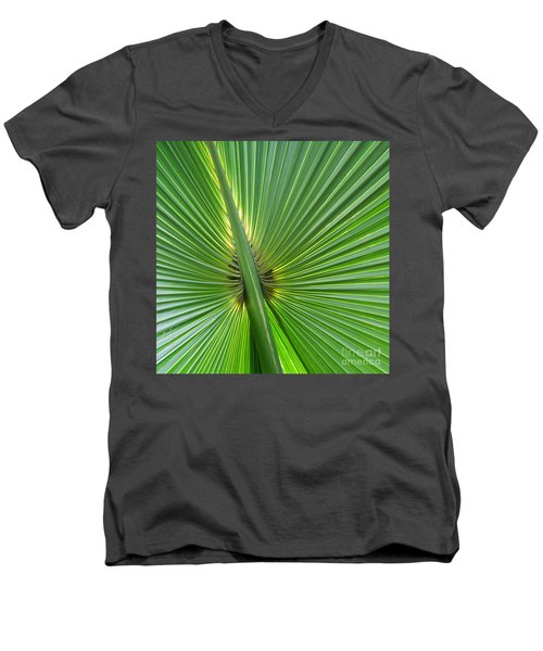 Men's V-Neck T-Shirt featuring the photograph Palm Love by Roselynne Broussard