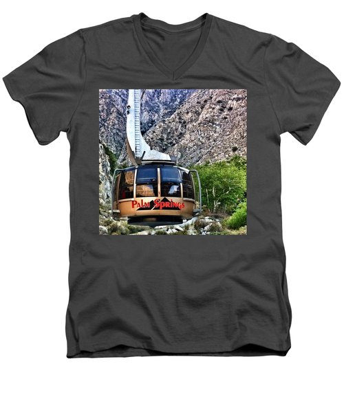 Palm Springs Tram 2 Men's V-Neck T-Shirt