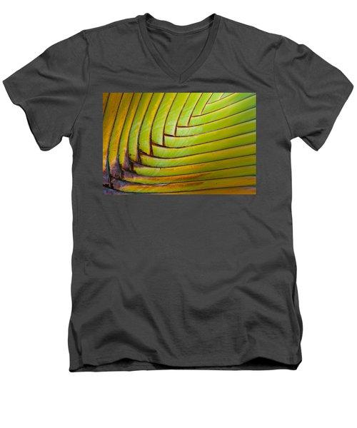 Palm Tree Leafs Men's V-Neck T-Shirt