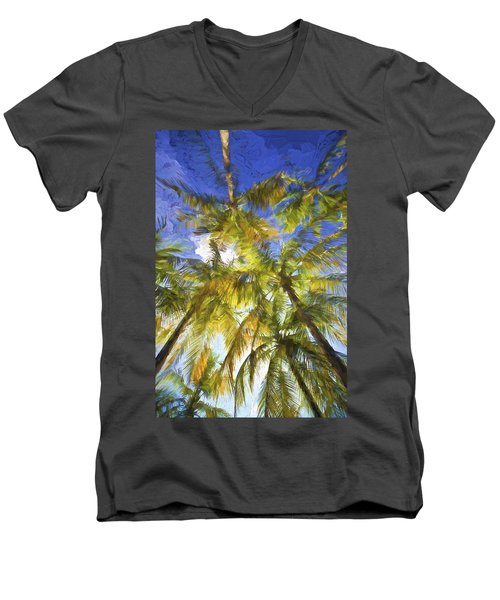 Palm Trees Of Aruba Men's V-Neck T-Shirt