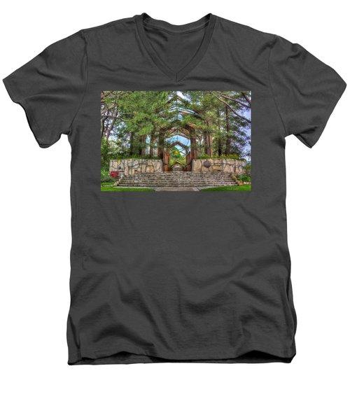 Palos Verdes Stone And Glass Men's V-Neck T-Shirt
