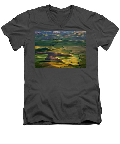 Palouse Shadows Men's V-Neck T-Shirt