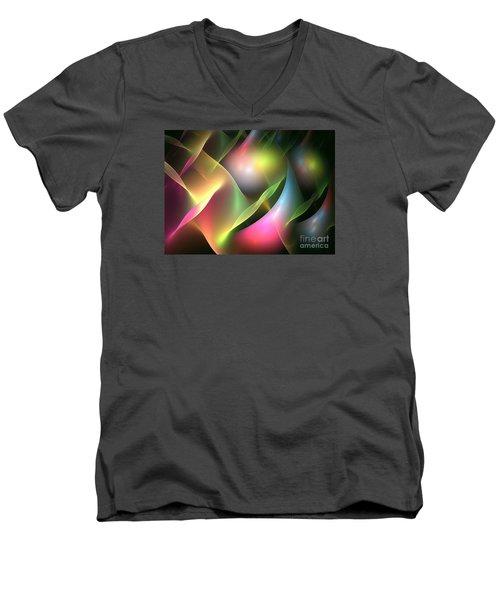 Pan Men's V-Neck T-Shirt by Kim Sy Ok
