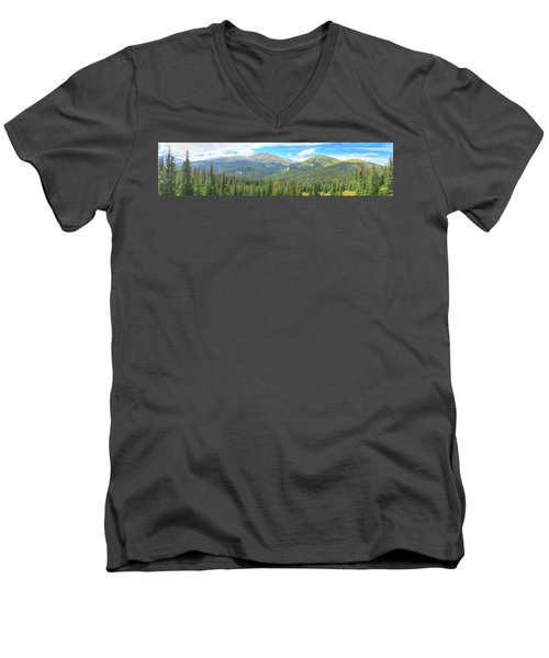 Men's V-Neck T-Shirt featuring the photograph Panoramic Boreas Pass by Lanita Williams