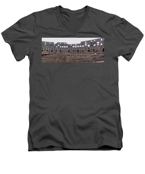 Panoramic View Of The Colosseum Men's V-Neck T-Shirt