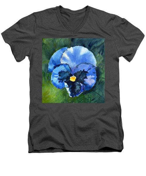 Pansy Blue Men's V-Neck T-Shirt
