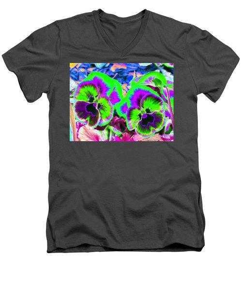 Pansy Power 60 Men's V-Neck T-Shirt