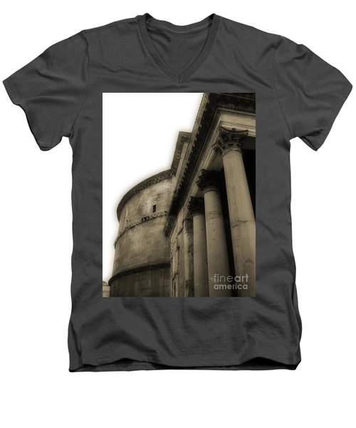 Men's V-Neck T-Shirt featuring the photograph Pantheon by Angela DeFrias