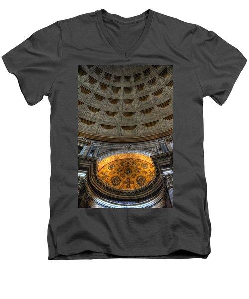 Pantheon Ceiling Detail Men's V-Neck T-Shirt