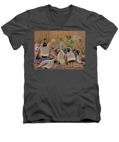 Papa Grande Men's V-Neck T-Shirt by Marilyn Smith