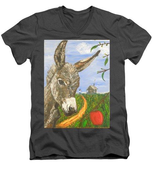 Papas Last Apple Men's V-Neck T-Shirt
