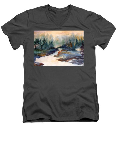 Pappa's Place Men's V-Neck T-Shirt