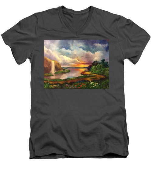 Paradise And Beyond Men's V-Neck T-Shirt