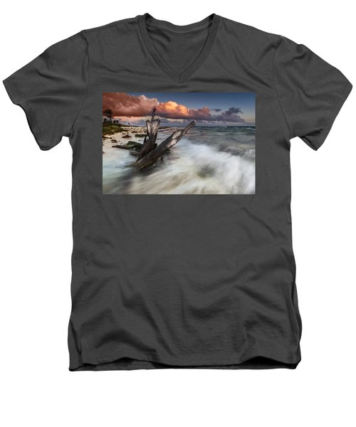 Men's V-Neck T-Shirt featuring the photograph Paradise Lost by Mihai Andritoiu