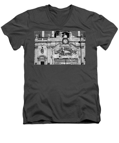 Paradise Movie Theatre Men's V-Neck T-Shirt