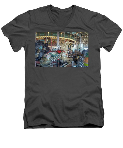 Paragon Carousel Nantasket Beach Men's V-Neck T-Shirt