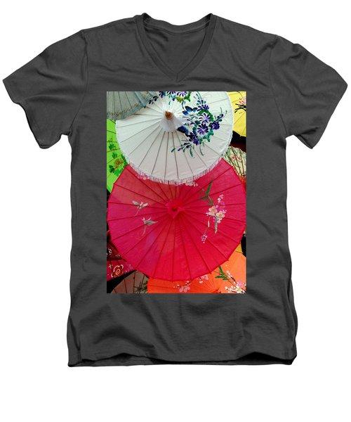 Parasols 1 Men's V-Neck T-Shirt