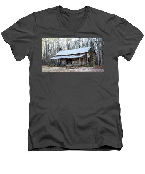 Park Ranger Cabin Men's V-Neck T-Shirt