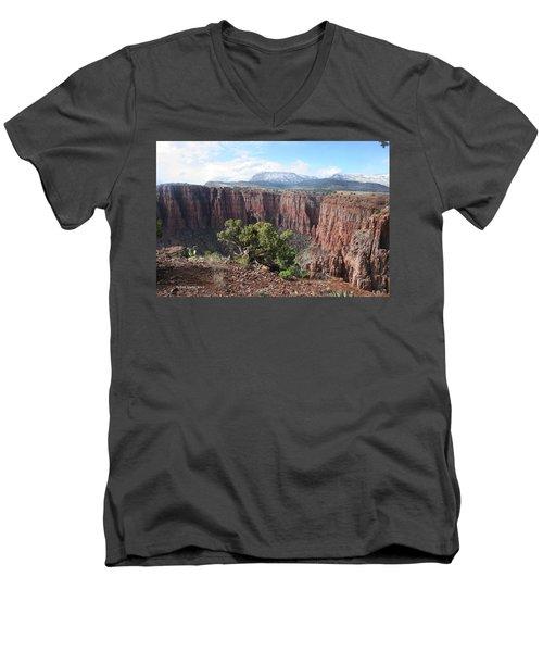 Parker Canyon In The Sierra Ancha Arizona Men's V-Neck T-Shirt by Tom Janca