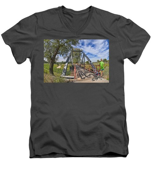 Men's V-Neck T-Shirt featuring the photograph Parkville Missouri by Liane Wright