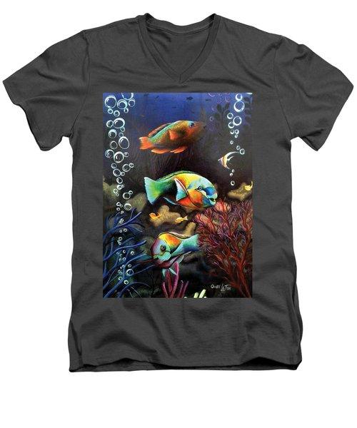 Parrot Fish Men's V-Neck T-Shirt