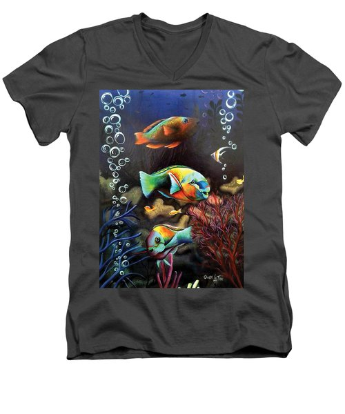 Parrot Fish Men's V-Neck T-Shirt