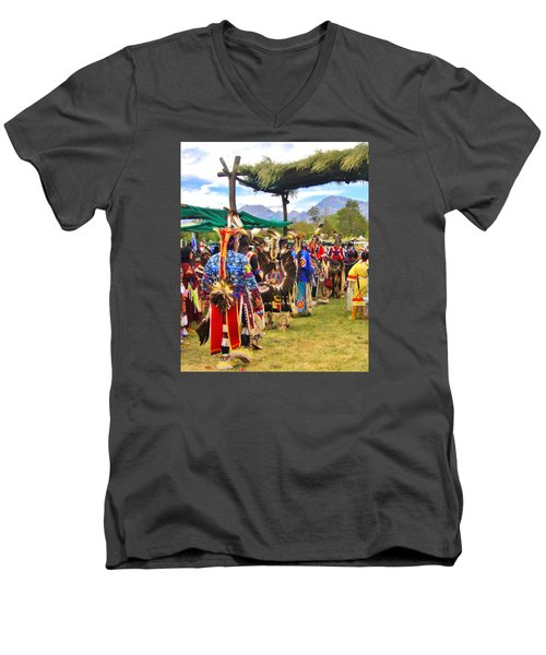 Men's V-Neck T-Shirt featuring the photograph Party Time by Marilyn Diaz
