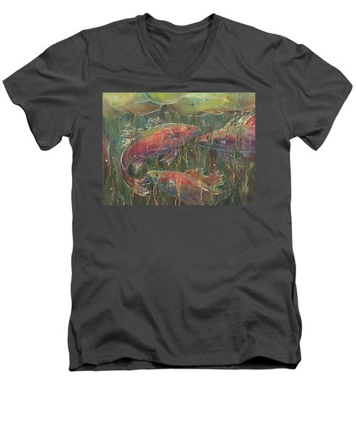 Party Under The Lily Pads Men's V-Neck T-Shirt