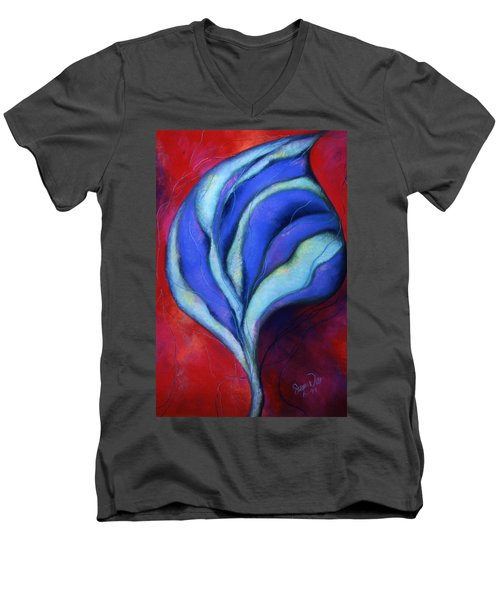 Men's V-Neck T-Shirt featuring the pastel Passion by Susan Will