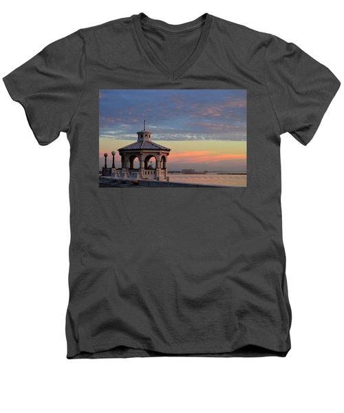 Pastel Sky Men's V-Neck T-Shirt by Leticia Latocki