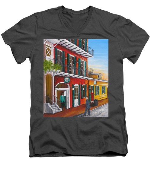 Pat O's Courtyard Entrance Men's V-Neck T-Shirt