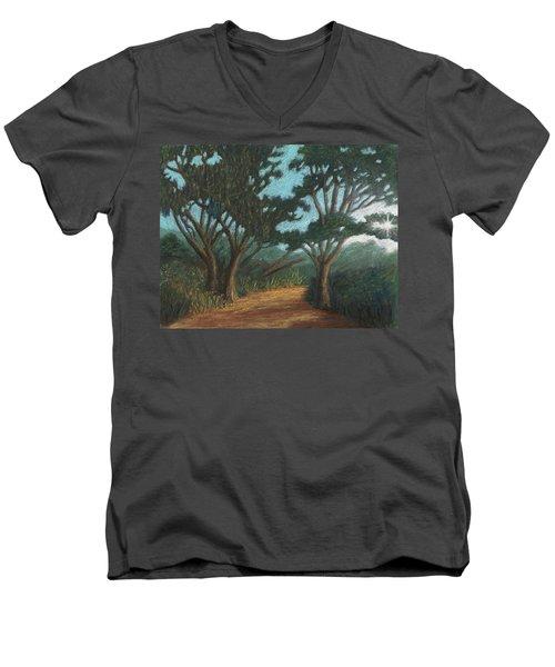 Path By Lake Murray 01 Men's V-Neck T-Shirt