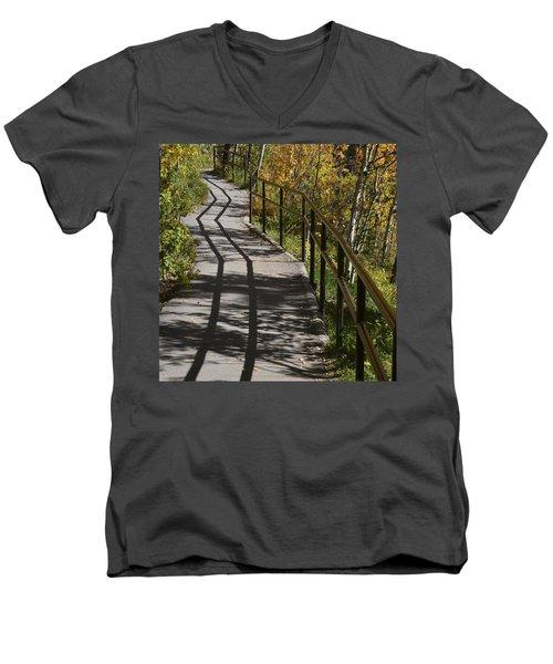 Path Shadow Men's V-Neck T-Shirt by Cheryl Miller