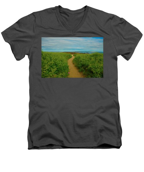 Path To Blue Men's V-Neck T-Shirt