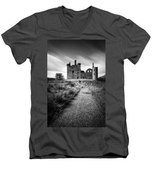 Path To Kilchurn Castle Men's V-Neck T-Shirt