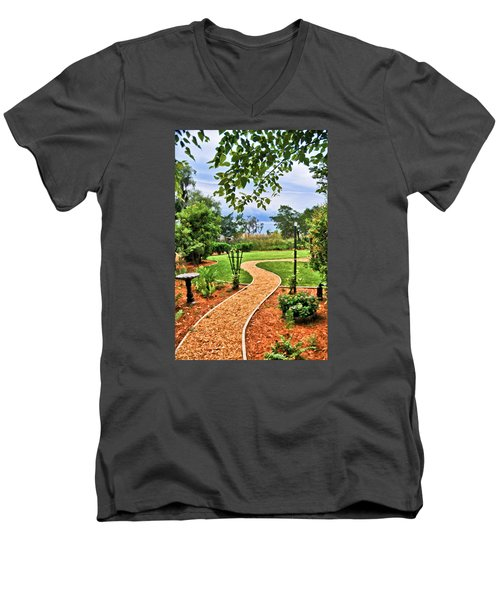 Garden Path To Wild Marsh Men's V-Neck T-Shirt